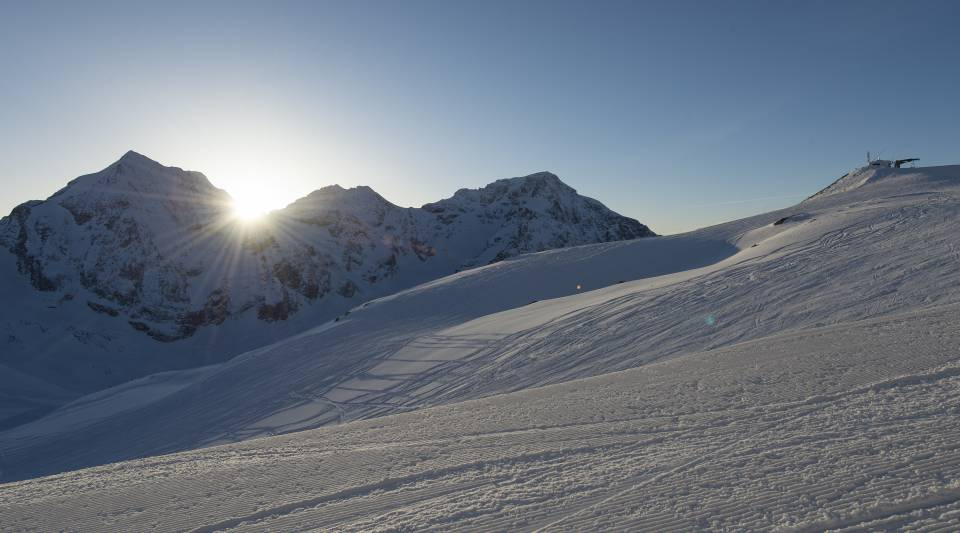 Sonnenaufgang in Sulden am Ortler