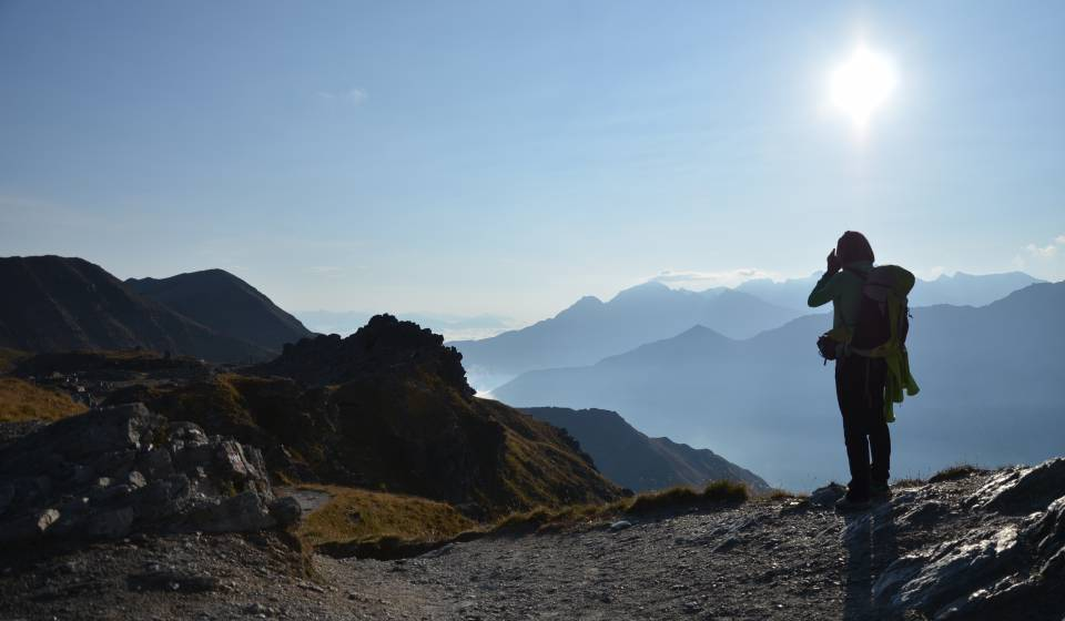 Hiking on the Ortler mountain in South Tyrol